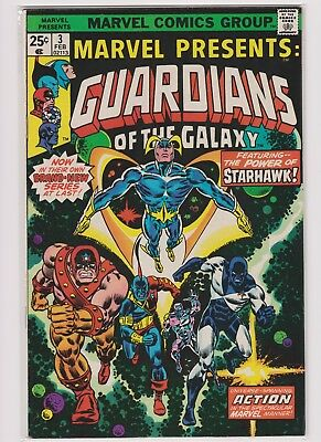 Marvel Presents Guardians of the Galaxy #3, 6, 8, 11, and 12 (1976-1977)