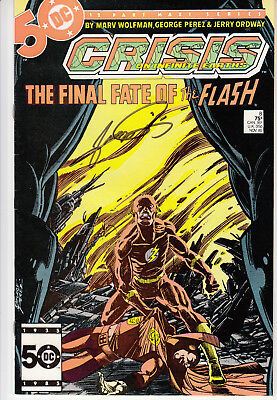 Crisis on Infinite Earths #8 - Signed George Perez - Death of Barry Allen Flash