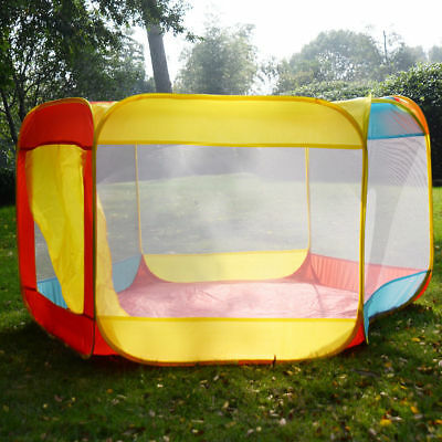 Portable Folding Playpen Baby Play Yard With Travel Bag Indoor Outdoor Safety VP