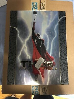 Thor The Dark World Foil Poster Print Metal Variant By Charlie Wen