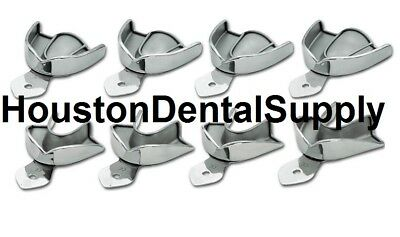 8 Dental Impression Trays SOLID Stainless Steel METAL Autoclavable 2S 2M 2L 2XL