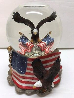 American Eagle Flag Snow Globe
