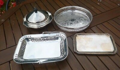 Joblot Collection of Antique/Vintage Silver Plated Items
