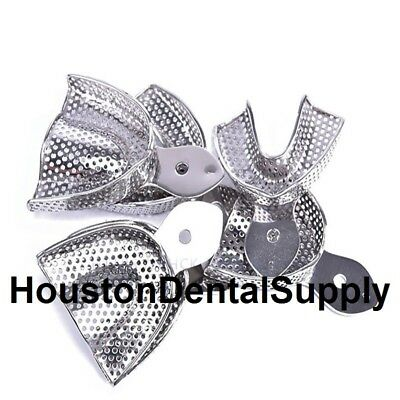 10 Dental Impression Trays PERFORATED Stainless Steel METAL Autoclavable