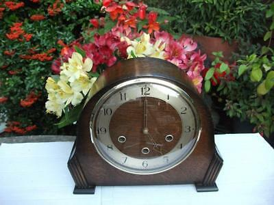 Stunning Smiths 8 Day Westminster Chiming Mantel Clock. 1954. Fully Overhauled.