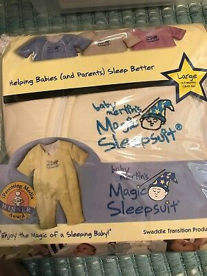 Baby Merlin's Magic Sleepsuit size Large 6-9 months Cream Color