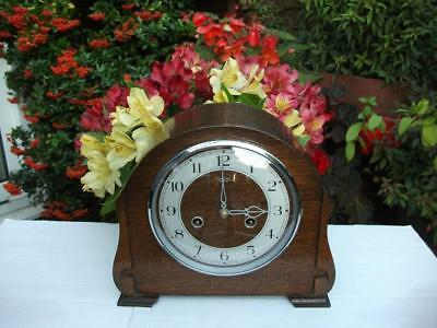 Superb Smiths Enfield 8 Day Striking Mantel Clock. 1950. Fully Overhauled