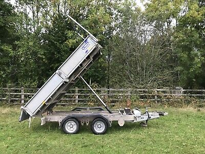 Ifor Williams tipper trailer 12v Hydraulic Tipping TT105 Flatbed Sides Logs Ivor