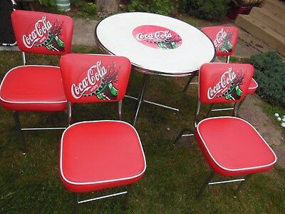 Coca Cola, Table & 4 chairs