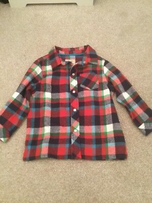 🌠 Frugi 12-18 Months Old Boy Checked Shirt