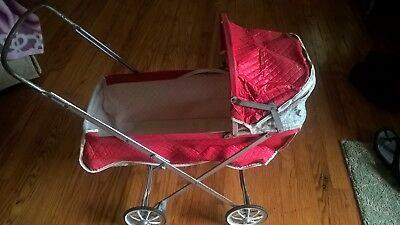 VINTAGE  PLAYTIME BABY DOLl  BUGGY 1950s/60s FOLDS UP! TAGGED