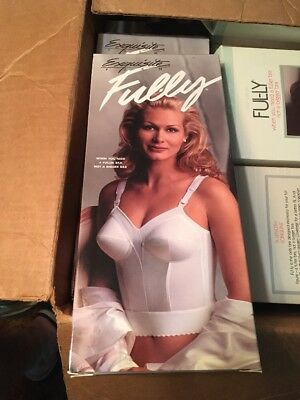 NEW VTG 80s Exquisite Form FUL-LY BRA Extra Support  46 C White