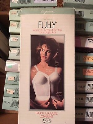 NEW VTG 80s Exquisite Form FUL-LY BRA Extra Support Front Closure Longline 44 D