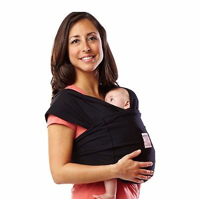 Baby K'tan ORIGINAL Baby Carrier, Black, Size Small Wrap