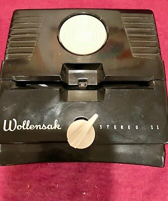 Vintage Wollensak Stereo 11 Slide Viewer 35mm