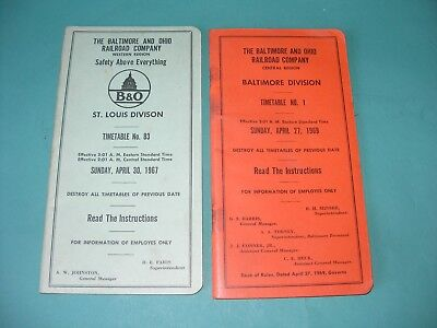 Baltimore and Ohio B & O Railroad Co. Freight System Timetables 1967 St. Louis