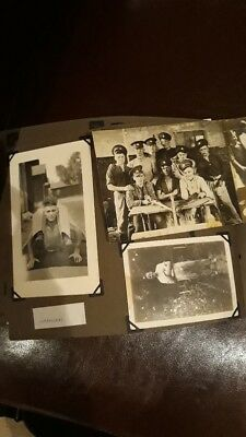 Collection of Vintage/Antique Black and White Photos inc Army, Family, Novelty