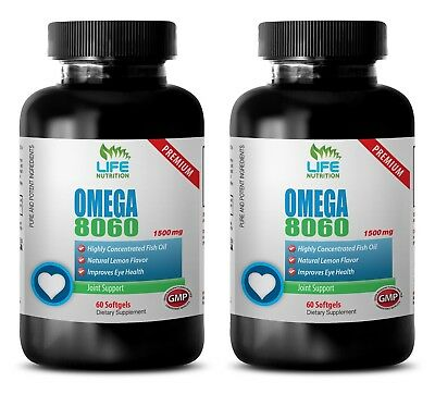 natural stress relief - Omega 8060 1500mg 2 Bottles - essential fish oil
