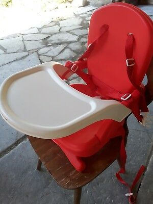 Mothercare Travel Folding Booster Seat portable high-chair red