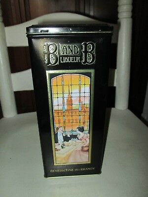 Vintage B & B Liqueur Advertising Tin Can -Vgc