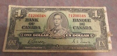 1937  Bank of Canada $1.00 Money Note -EUC-FREE SHIPPING