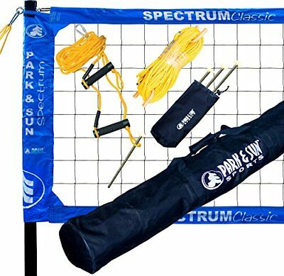 Portable Outdoor Volleyball Net Set Complete System Beach Professional Park Kit