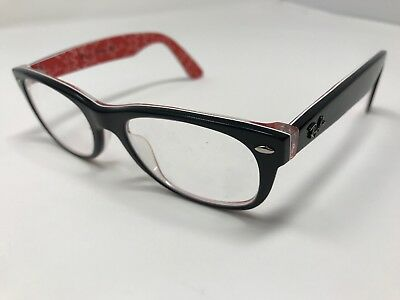 dc30aefeca2 NEW RAY BAN RB5184 (2479) Black on Red 52  18 145 Eyeglasses Frame ...