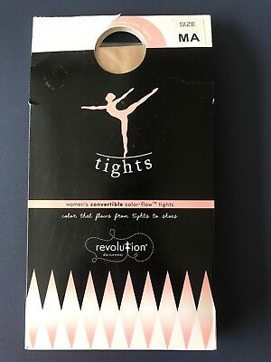 61e4a0b6c905f New REVOLUTION DANCEWEAR Color-Flow Convertible Tights ~ Classic Pink~ MA