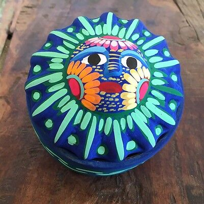 Ceramic Sun Jewel Trinket Box Mexican Art take me home for Valentines Gift