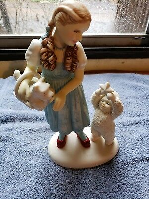 1998 The Wizard Of Oz Dorothy Not In Kansas Dept 56 Snowbabies Figurine Premiere