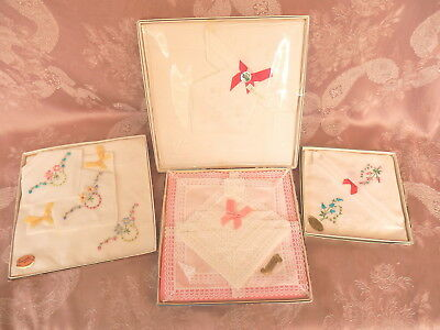 4  BOXED  SETS  IRISH LINEN and COTTON    HANKIES/Handkerchiefs  11  VINTAGE
