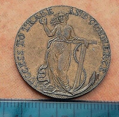 Lovely Essex halfpenny token - Braintree - 1794