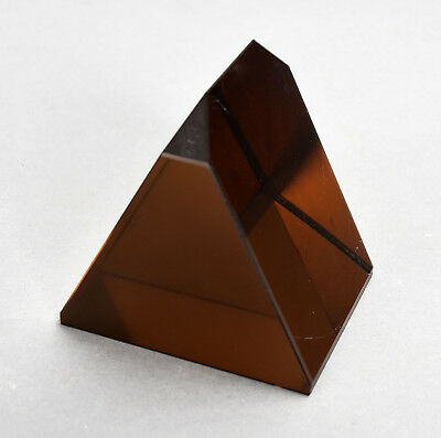 Vintage Triangular Red Glass Filter Prism from U.S. Military Submarine Periscope