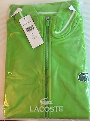 LACOSTE Men's Light Sporty Tennis Jacket Zippered Size 5 GJ6510 SH8719 Green