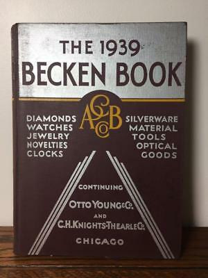 Vintage 1939 BECKEN BOOK Large HC Wholesale Catalog w/ Order Pad Watches Jewelry