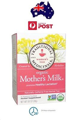 """CERTIFIED ORGANIC NURSING TEA """"MOTHER'S MILK"""" BY TRADITIONAL MEDICINALS X16 Bags"""