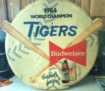 Item #346  Vintage 1984 Budweiser Detroit Tigers World Champion Advertisement