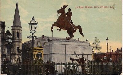 Jackson Statue, New Orleans, La., food tonic advertisement,  postmarked 1913  G