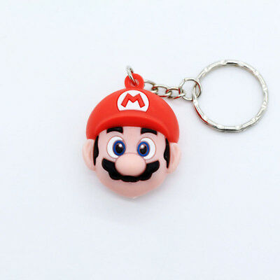 NEW 3D Mario Soft Rubber Keyring Keychain