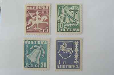 Lithuania Litauen Lietuva Set of 4 stamps as shown MSH