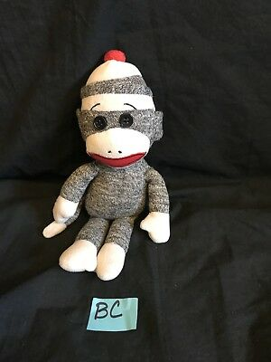 """TY Beanie Babies Socks the Sock Monkey Plush 2011 Brown 10"""" Toy Collection"""