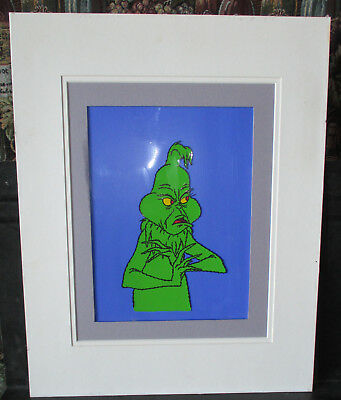 """Dr Seuss """"How The Grinch Stole Christmas"""" Original Charater Design Approval Cel"""