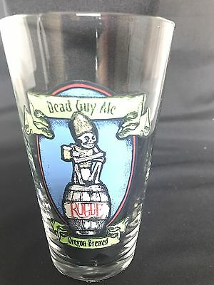 Dead Guy Ale Pint Beer Glass! Great piece for your collection.