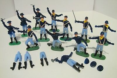 Timpo Copies Hong Kong American Civil War Union Infantry Plastic Toy Figure Lot