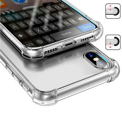 Clear Transparent Shockproof Soft Silicon Rubber Case Cover For iPhone XS MAX XR
