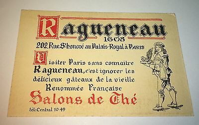Rare Antique / Vintage Ragueneau Paris, France, Salons! Old French Postcard!