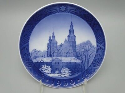 "1956 Royal Copenhagen Rc Christmas Plate ""rosenborg Castle """