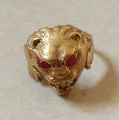 rare ancient solid ring bronze viking beautiful bronze ring authentic
