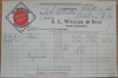 Buckeye Paint 1918 Color Letterhead - Cincinnati, Ohio OH