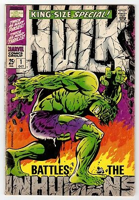 Incredible Hulk Annual #1 King-Size Special Early Inhumans Appearance VG 4.0